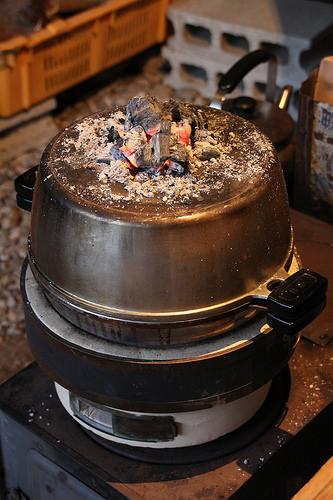 無水鍋でダッチオーブン